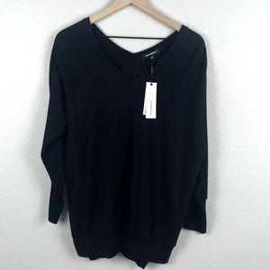 NWT 525 America Black Oversized V-Neck Sweater- S